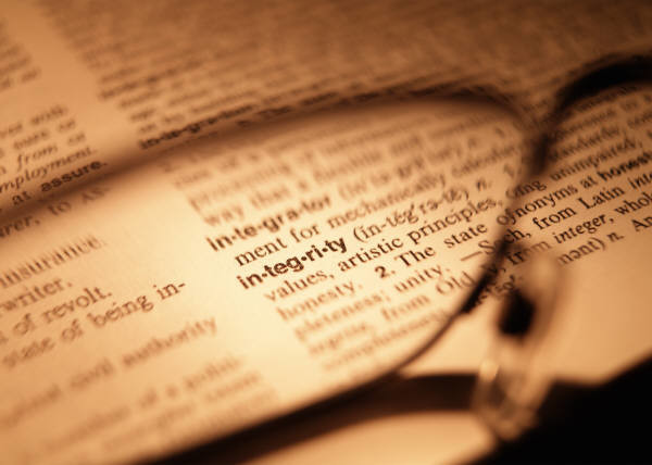Food For Thought Integrity Dictionary | Food For Thought