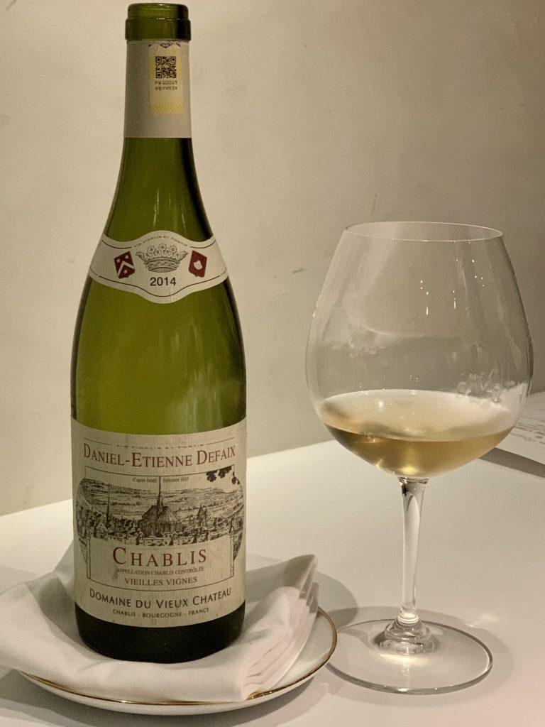 2014 Domaine Daniel-Etienne Defaix Chablis Vielles Vignes | DC Restaurant Dom Perignon Pairing | Food For Thought