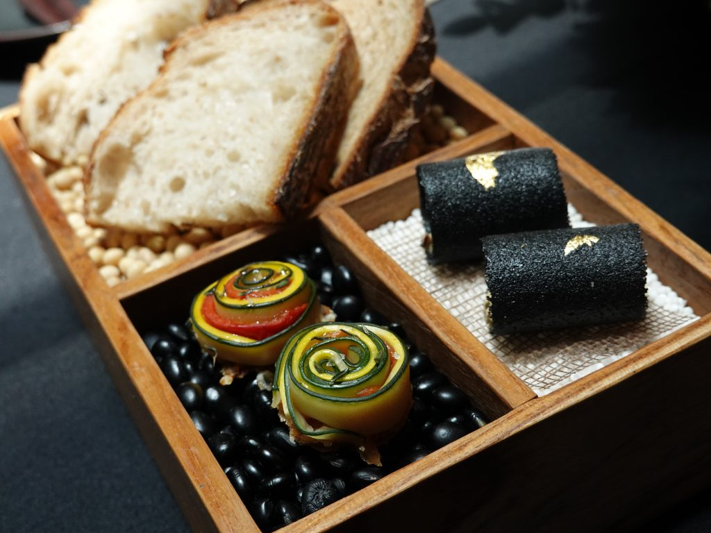 Amuse Bouche & Wheat | Skillet at 163 x Perrier Jouét | Food For Thought