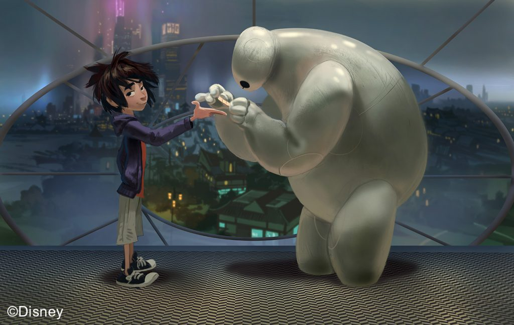 Big Hero 6, 2014, Concept art, Paul Felix © Disney | Food For Thought