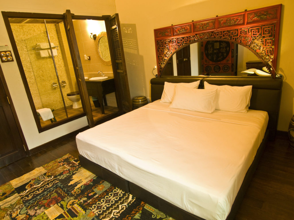 Clarke Terrace Master Bedroom with Bathroom | Hotel Penaga | Food For Thought