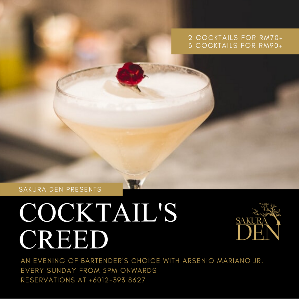 Cocktail's Creed | Sakura Den | Food For Thought