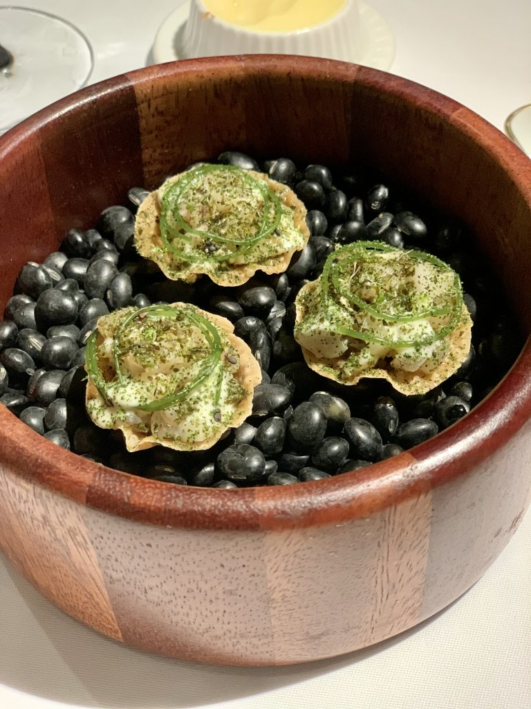 Cured Mackerel Tartlet | DC Restaurant Dom Perignon Pairing | Food For Thought