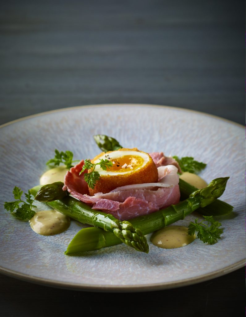 Daniel Boulud's Asparagus Salad with Crispy Egg | Daniel Boulud | db Bistro and Oyster Bar | Food For Thought