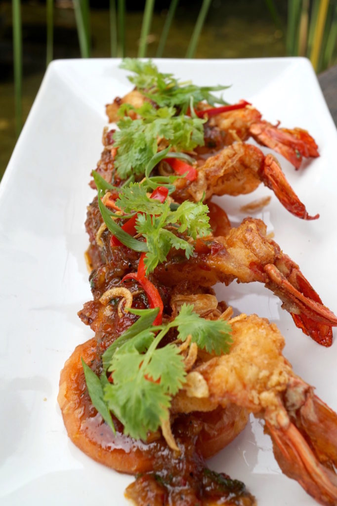 Deep Fried Tiger Prawns With Spicy Chili Sauce - Tamarind Hill - Food For Thought