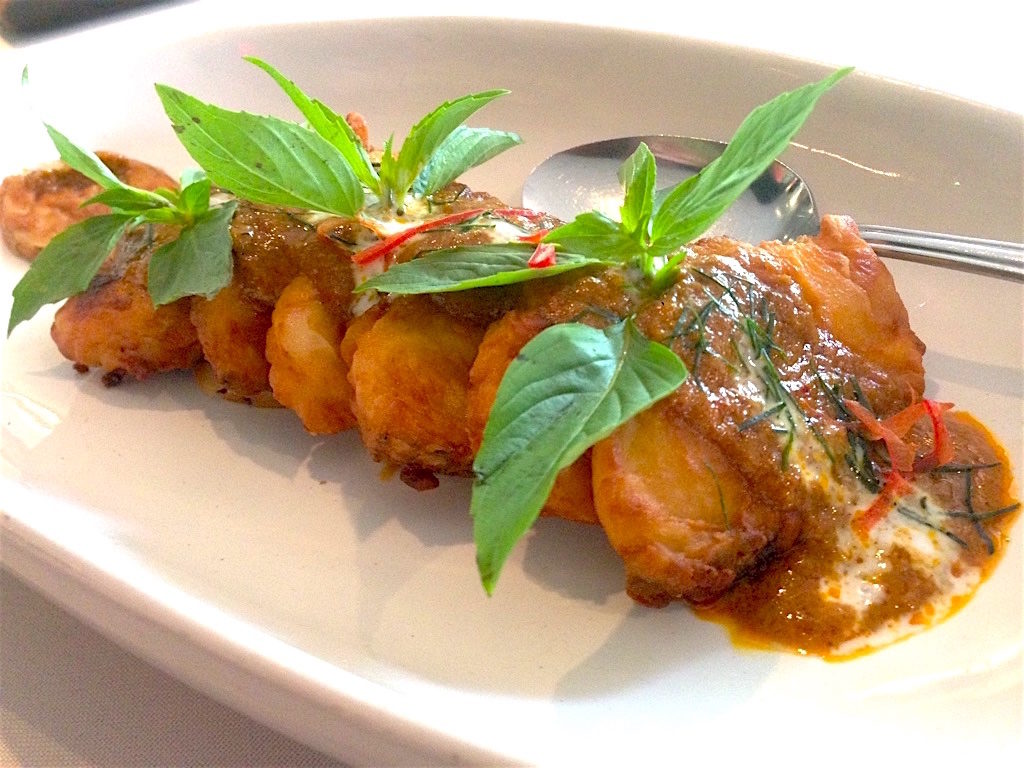 Deep-Fried White Cod Topped With Red Curry - Tamarind Hill - Food For Thought