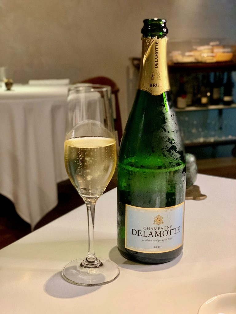 Delamotte Brut Champagne | DC Seasonal May 2020 Menu | DC Restaurant | Food For Thought