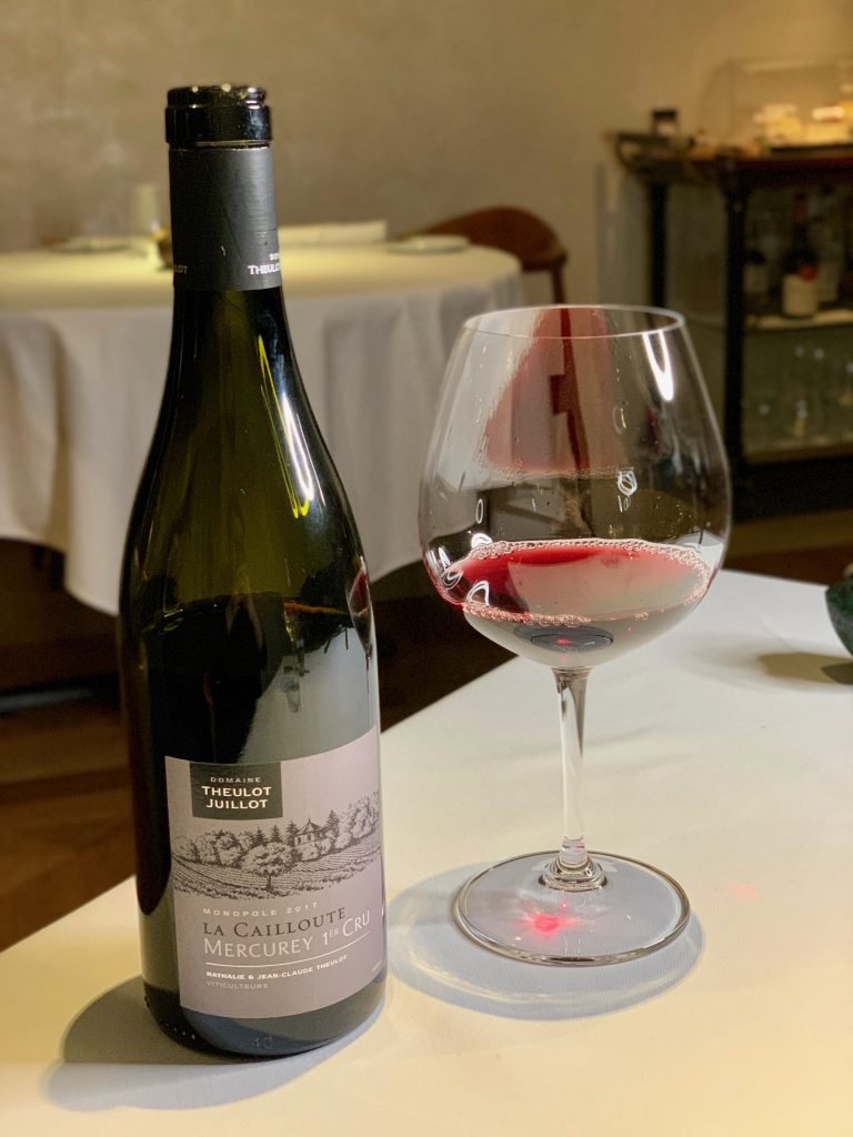 Domaine Juillot-Theulot Mercurey 1er Cru 'La Cailloute' Rouge | DC Seasonal May 2020 Menu | DC Restaurant | Food For Thought