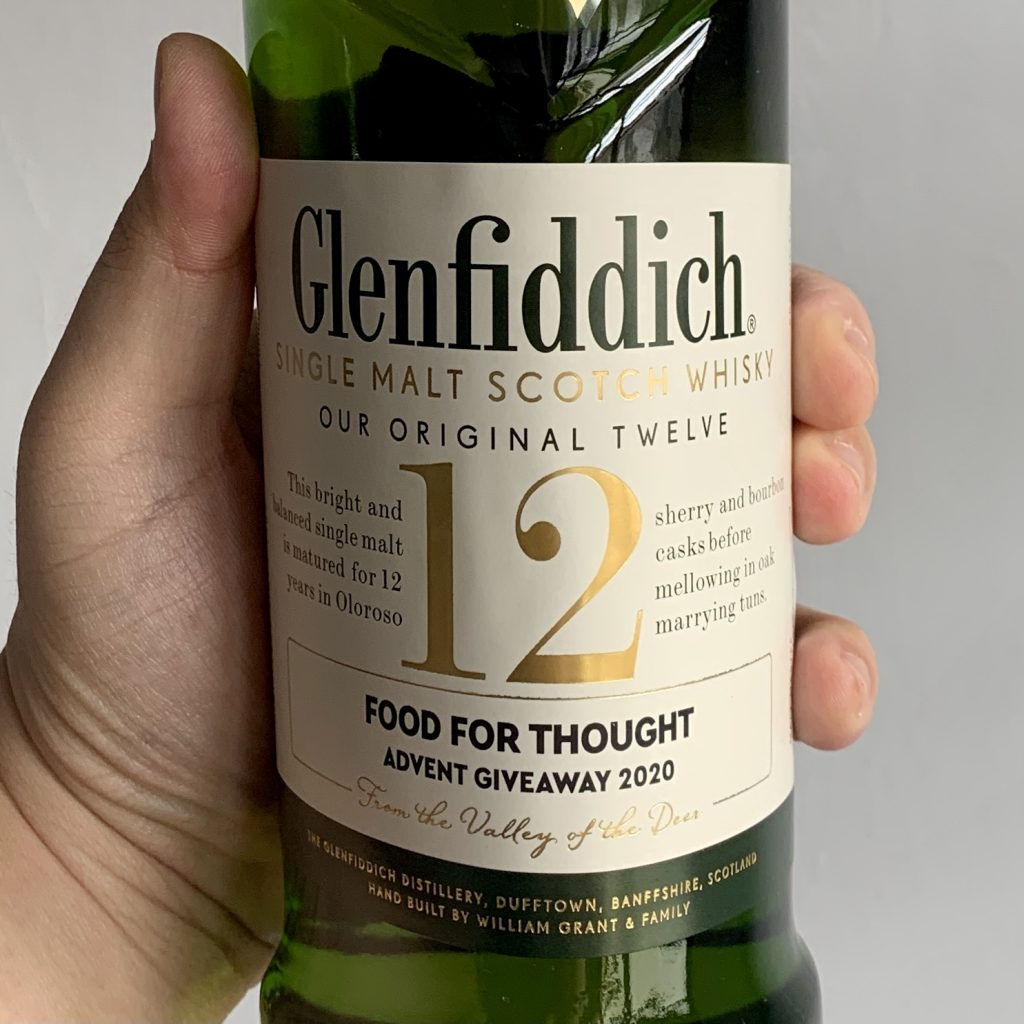 Food For Thought Advent Giveaway | Glenfiddich Personalised Label | Food For Thought