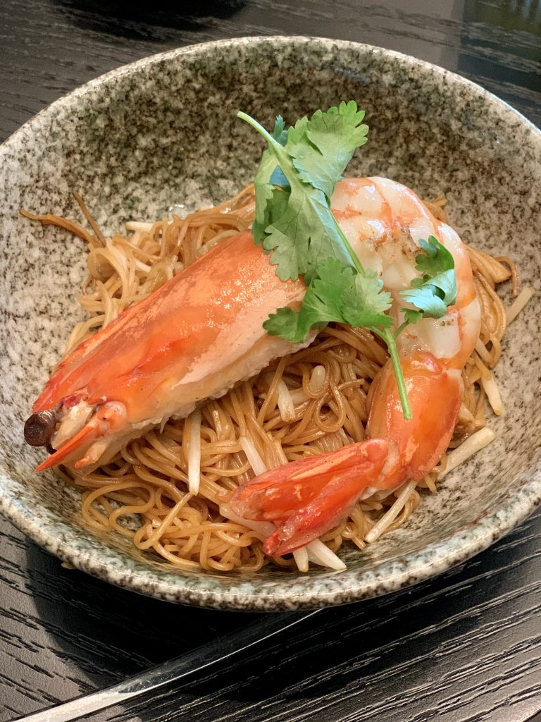 Fried Egg Noodles with Prawns, Beansprouts and Fine Soy Sauce 豉油皇蝦球炒麵 | Yun House | Four Seasons Kuala Lumpur | Food For Thought