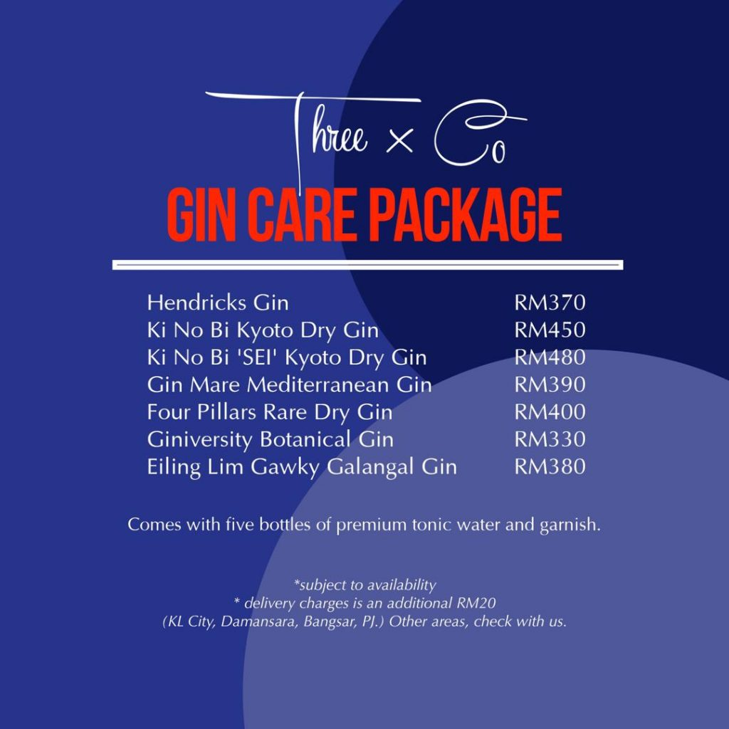 Gin Care Package | Delivery | Three X Co | Food For Thought