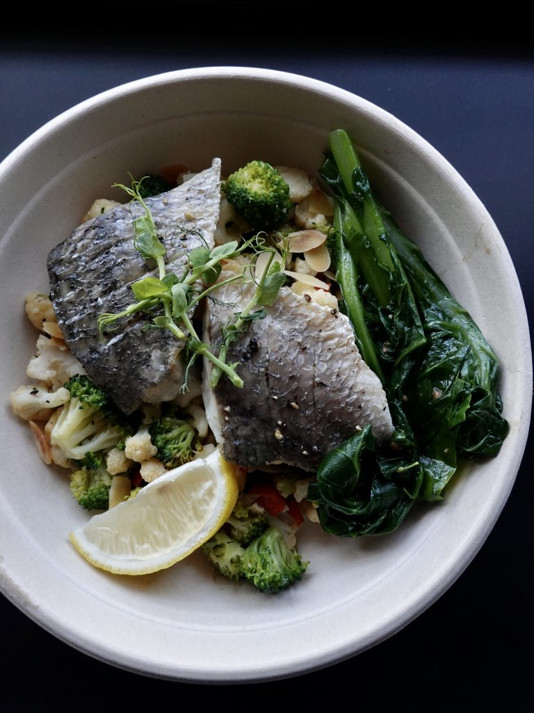 Grilled Seabass with Cauliflower Rice | TAF Meals | Food For Thought