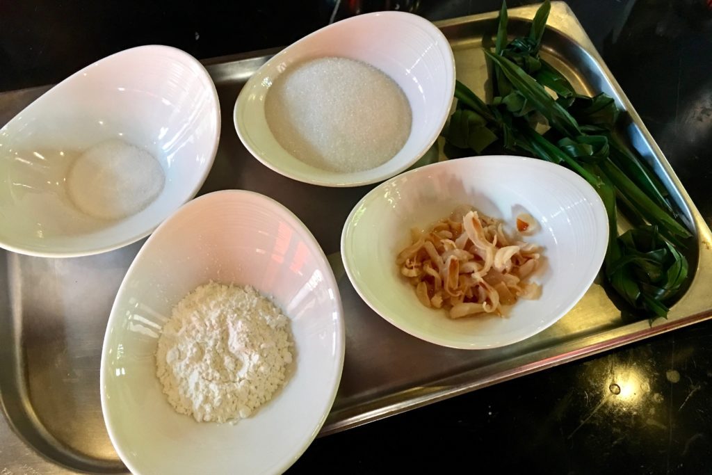 Khanom Tako Ingredients | Cooking Class | 137 Pillars House | Food For Thought