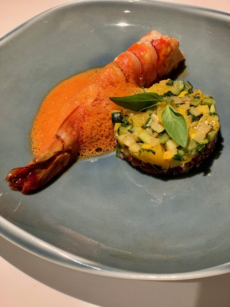 King Sea-Tiger Prawn with Carrot-Ginger Sauce | DC Seasonal May 2020 Menu | DC Restaurant | Food For Thought