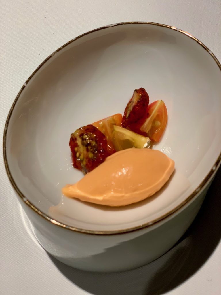 Lobster & Crab Ice Cream & Tomatoes   DC Seasonal May 2020 Menu   DC Restaurant   Food For Thought