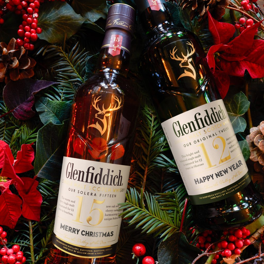 Merry Christmas & Happy New Year | Glenfiddich Personalised Label | Food For Thought