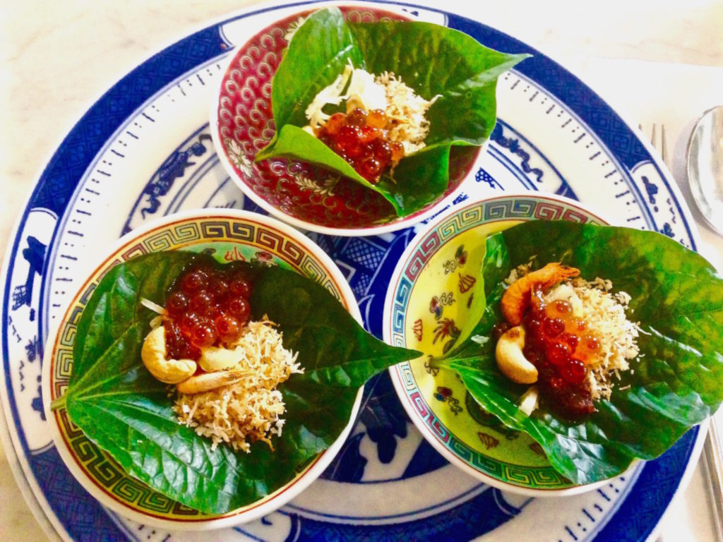 Miang Kham of Salmon Roe - Kebaya House - Food For Thought