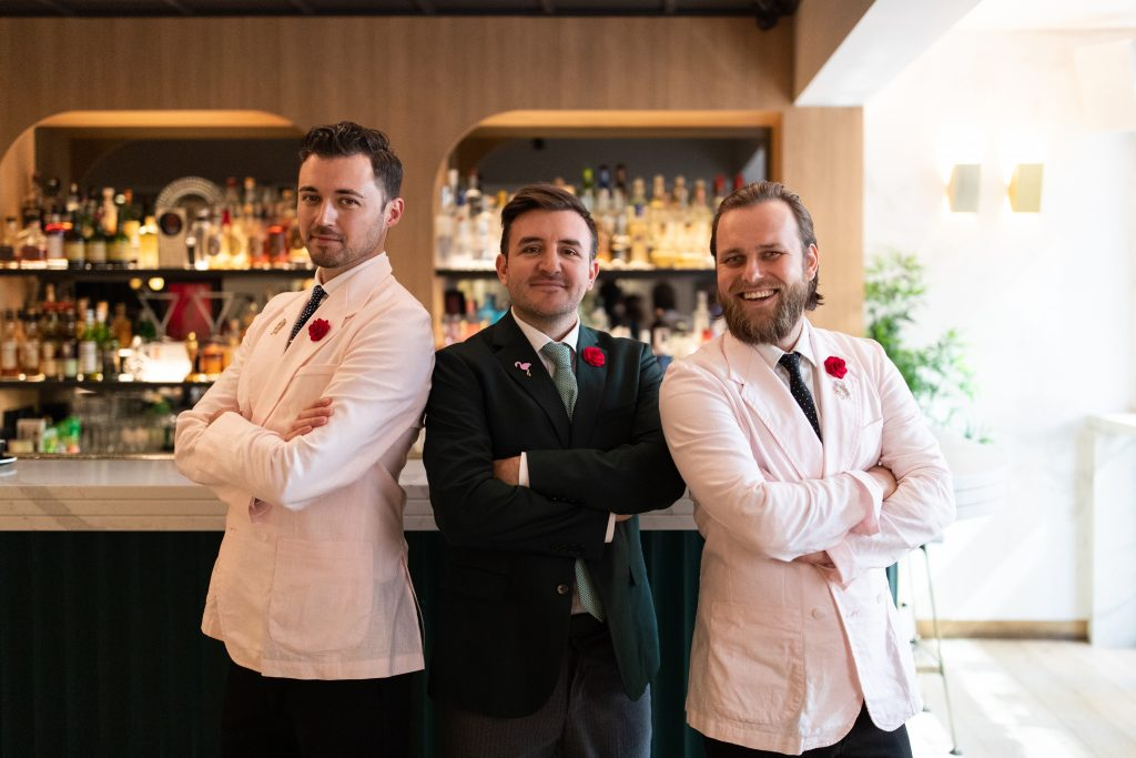Michter's Art of Hospitality Award 2020 - From Left to Right — Andrea Gualdi, Stefano Catino and Martin Hudak | The Worlds 50 Best Bars 2020 | Food For Thought