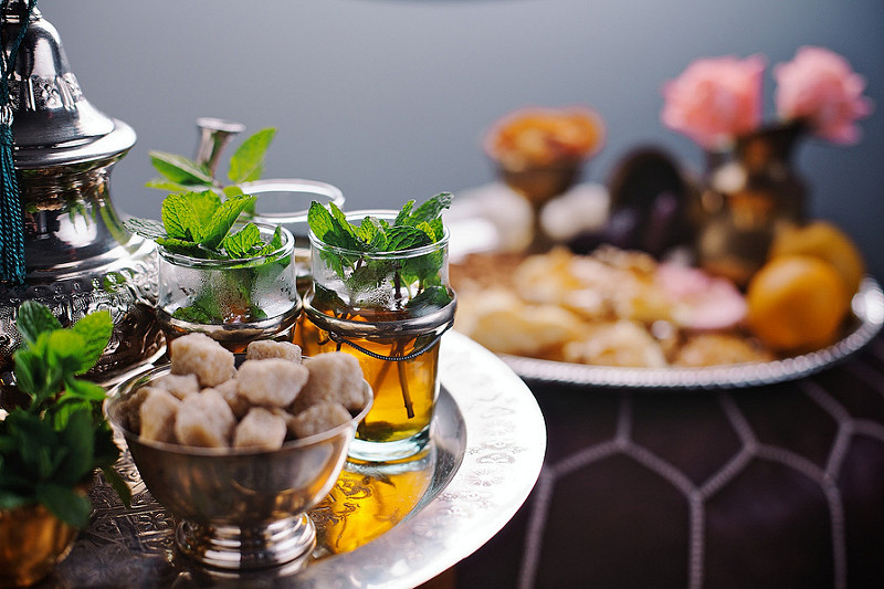 Moroccan Mint Tea | Travelling to Morocco | Food For Thought | Image courtesy of Style Me Foods