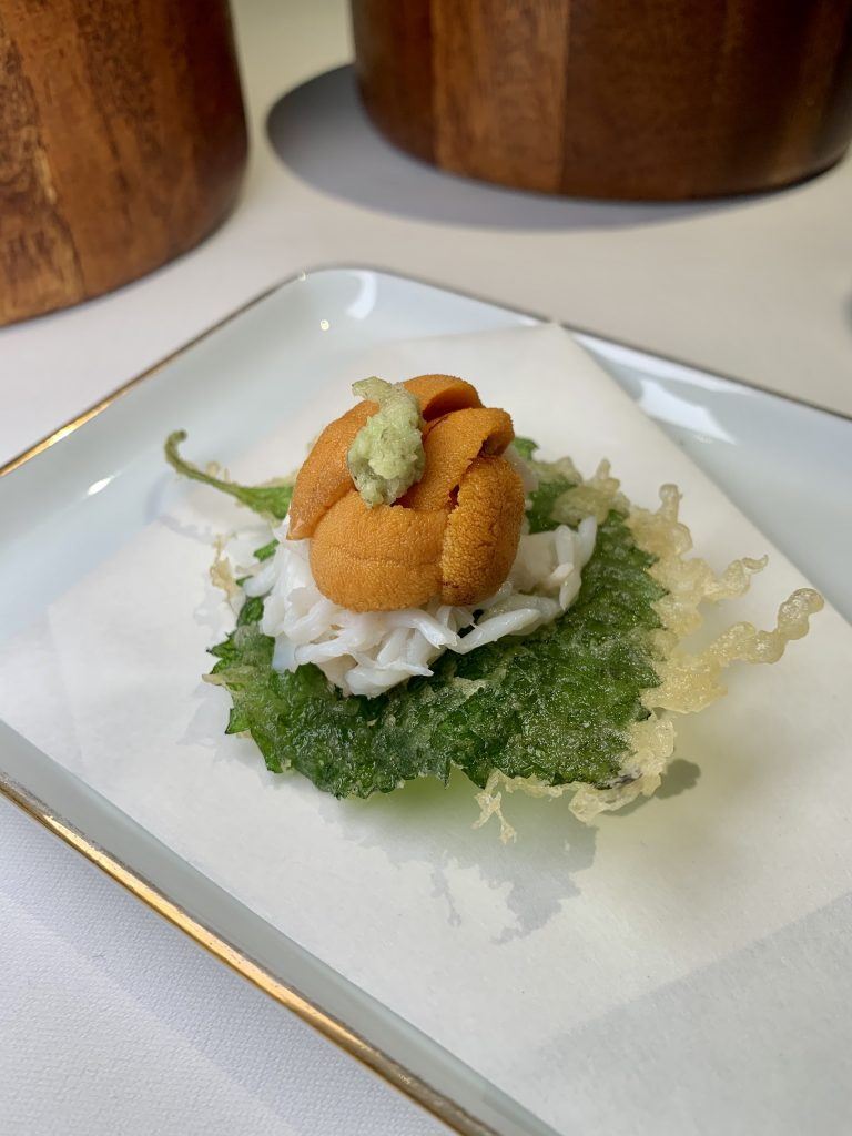 Oba Tempura | DC Restaurant Dom Perignon Pairing | Food For Thought