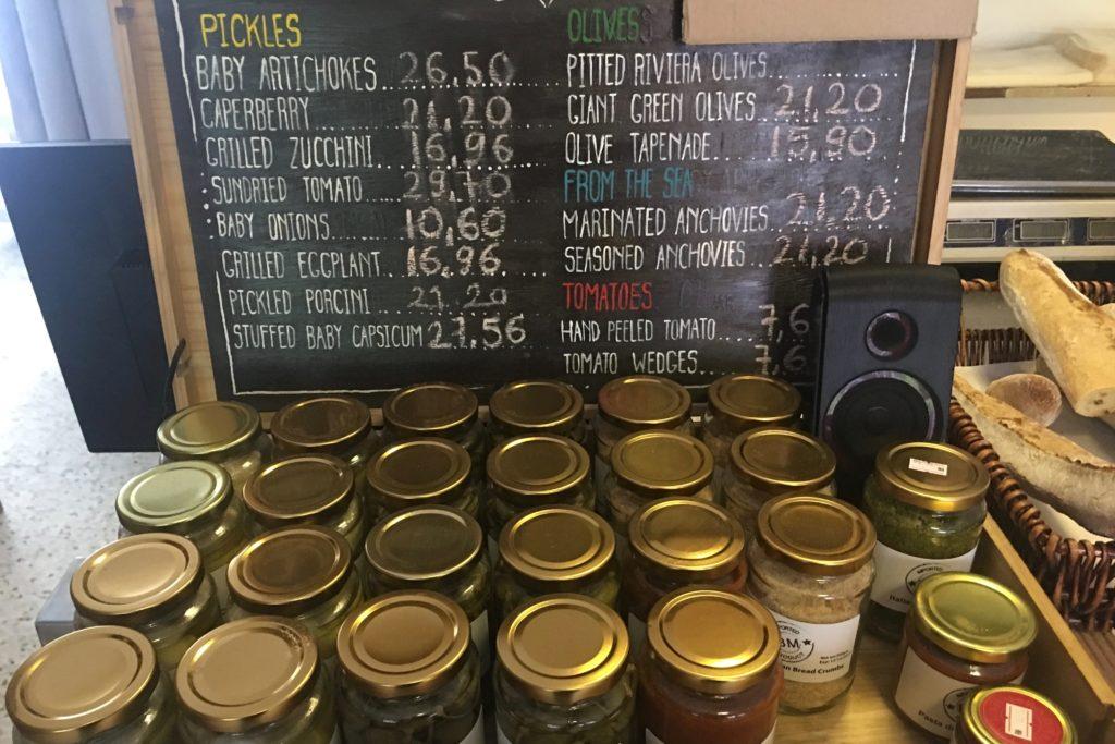 Olives and Pickles | Bottega Medditerreana | Food For Thought