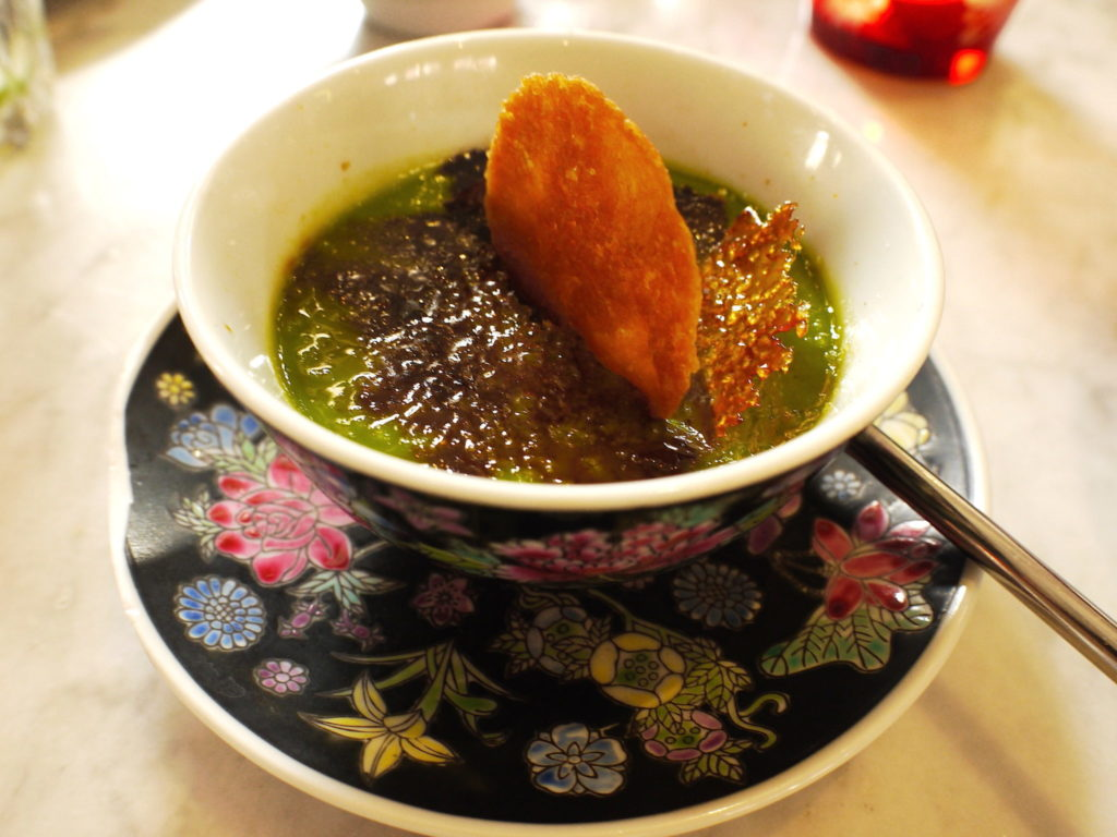 Pandan Creme Brulee - Kebaya House - Food For Thought