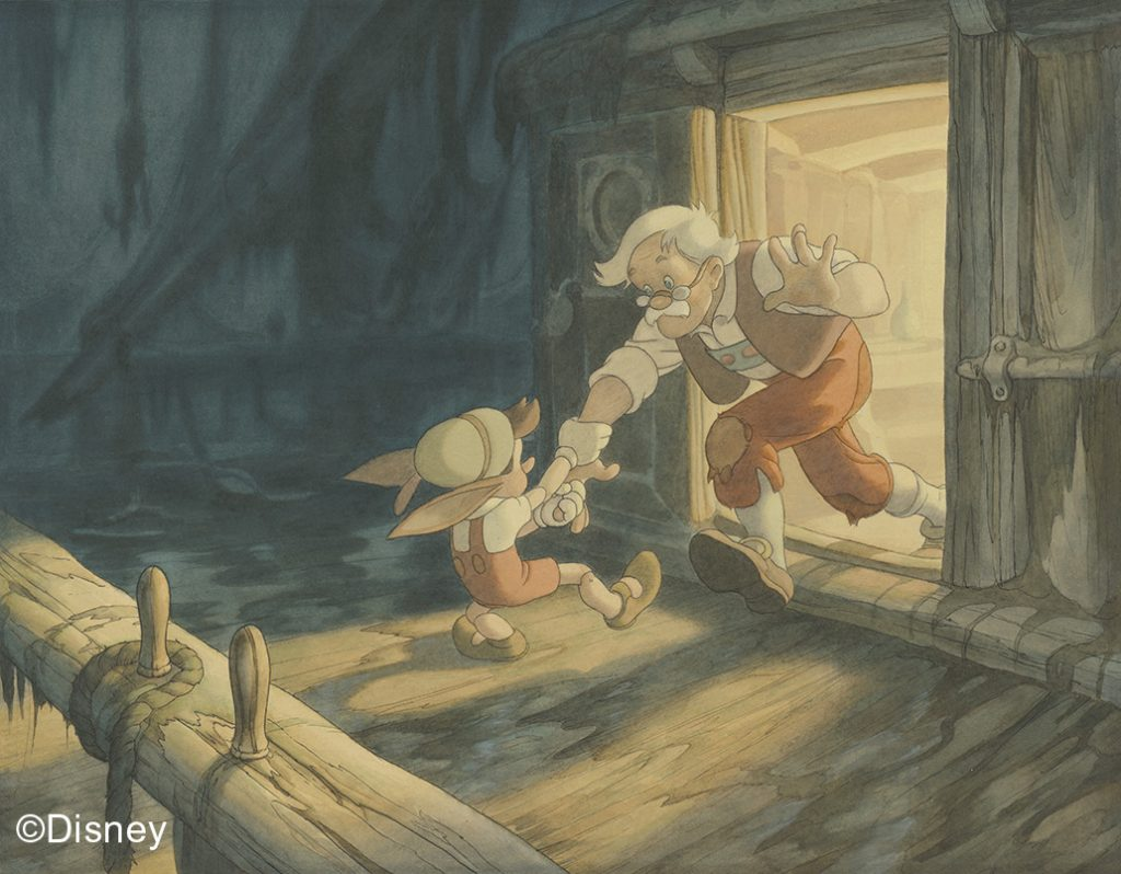Pinocchio, 1940, Concept art, Gustaf Tenggren © Disney | Food For Thought