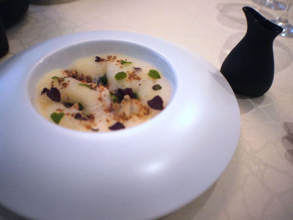 Pot Au Feu of Flower Prawn and Black Chicken - Macalister Mansion - Food For Thought