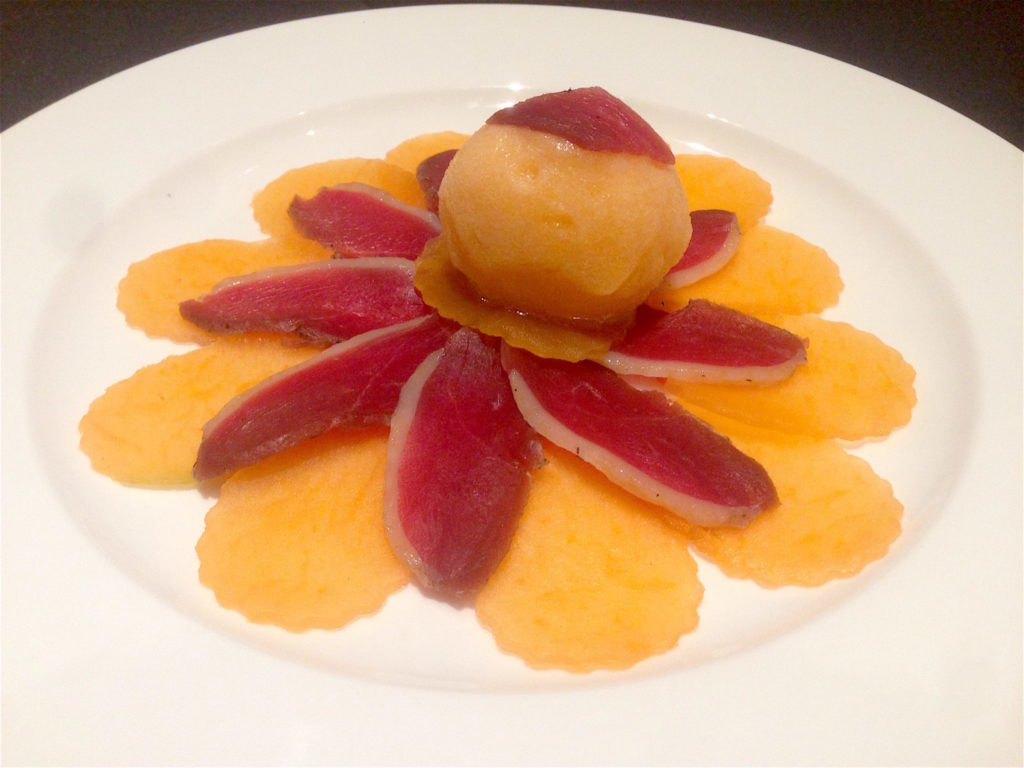 Proscuitto of Duck with Rock Melon - The Fine Dining - Food For Thought