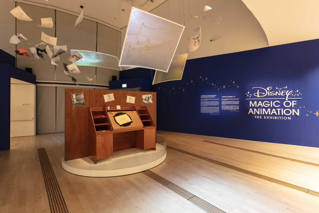 Replica of Disney's animator's desk at the entrance of Disney Magic of Animation (Credit to Marina Bay Sands and Disney) | Food For Thought