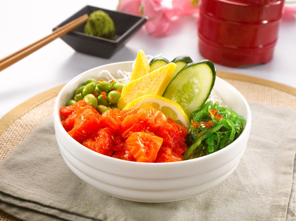 Salmon Poke Bowl | Sushi+ Rotatry Sushi Bar | Tiffin Throwdown | Food For Thought