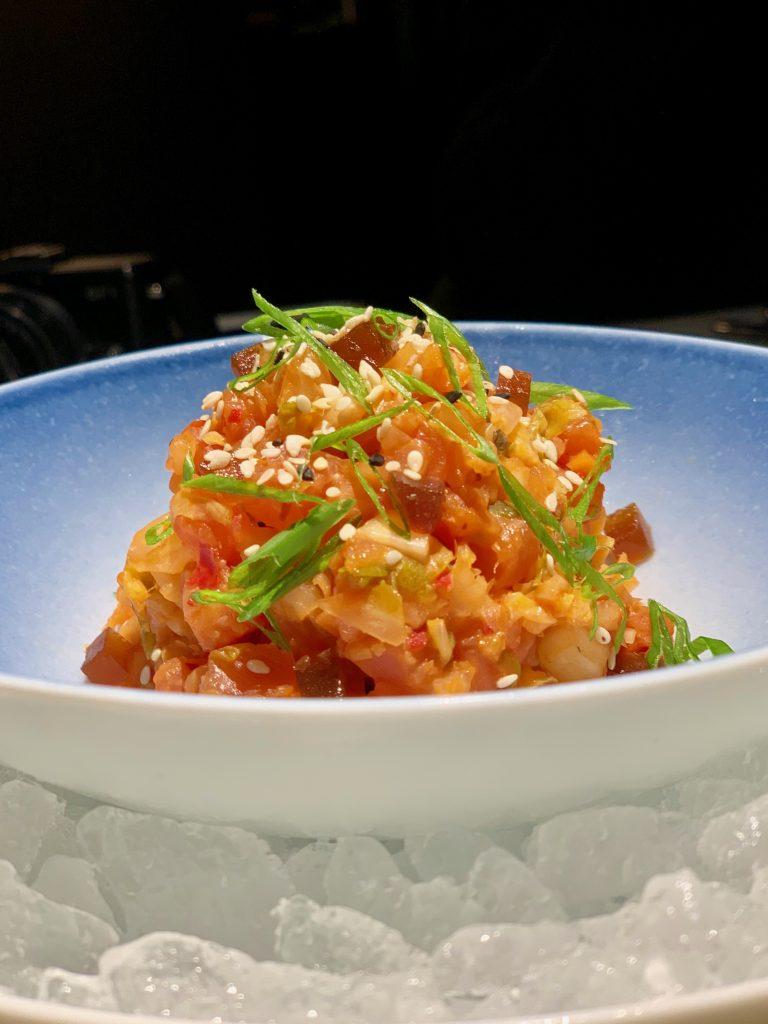 Salmon & Tuna Kimchi Tartare | Sabayon by EQ | Food For Thought