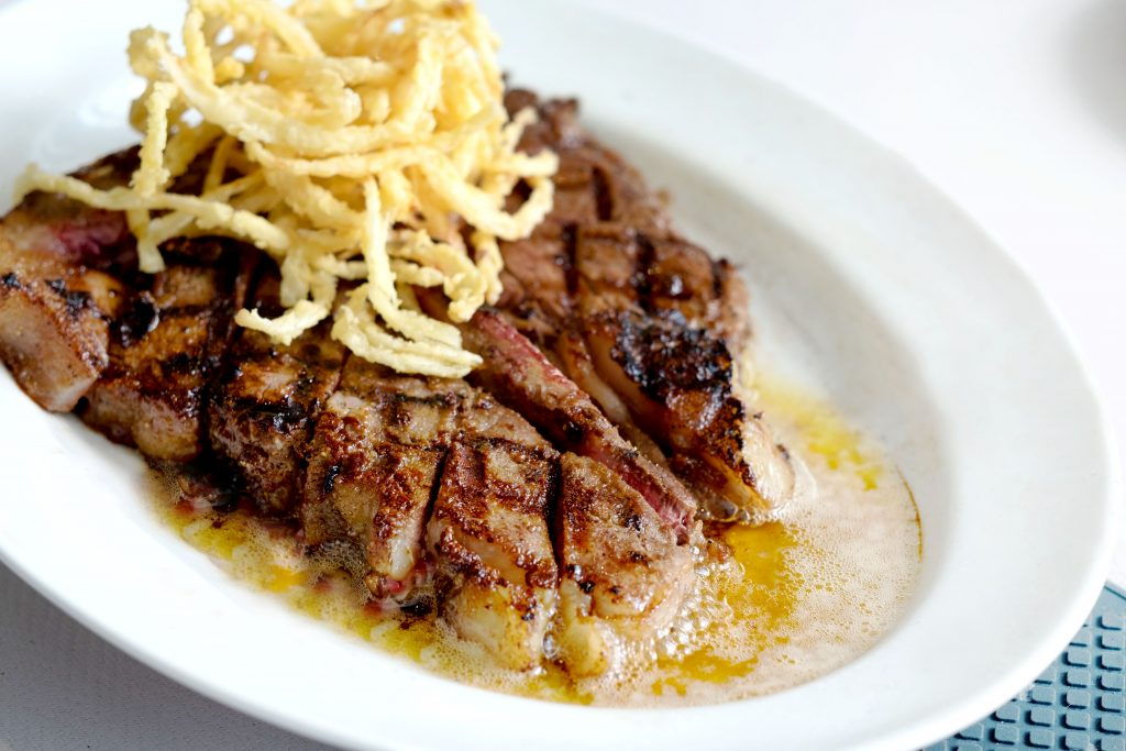 Sizzling Porterhouse   Maria's Steak Café Cocktails   Food For Thought