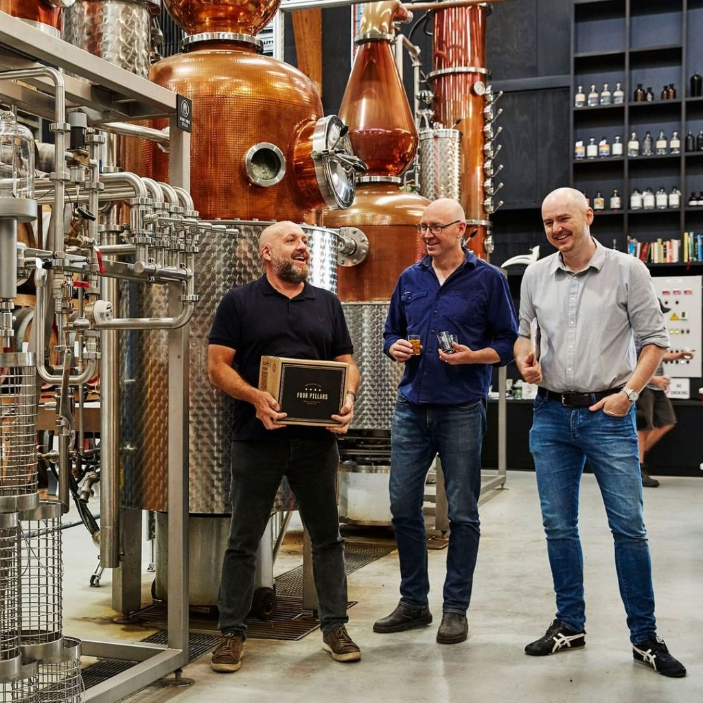 Stuart Gregor, Cam McKenzie and Matt Jones | Four Pillars Gin