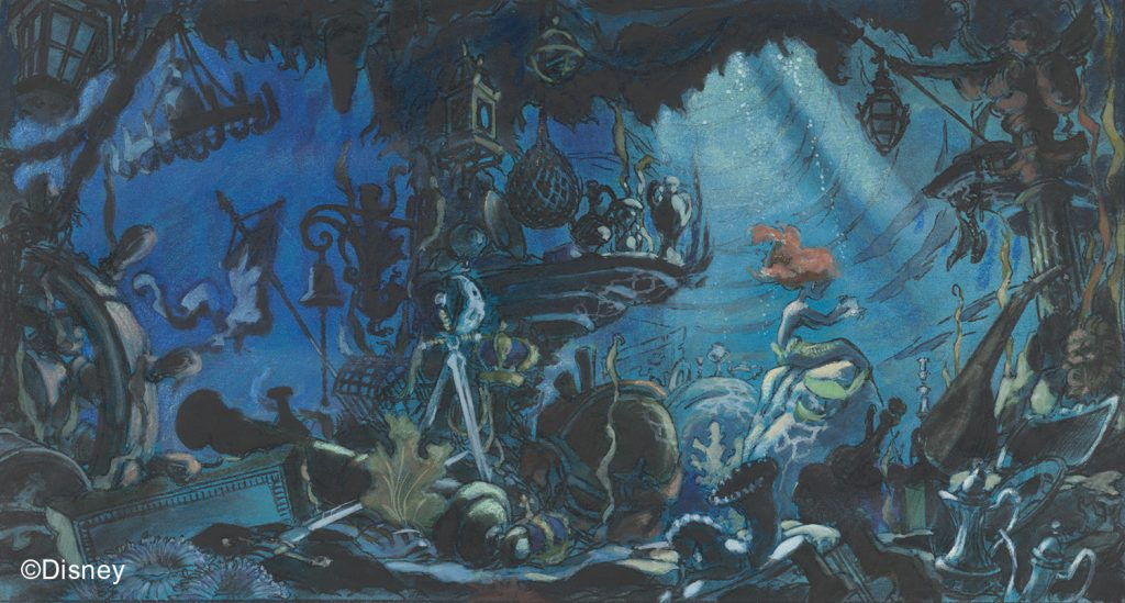 The Little Mermaid, 1989, Concept art, Michael Peraza, Jr. © Disney | Food For Thought