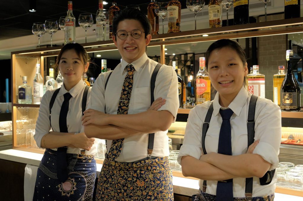 The Mizukami Highball team_ (L-R) Avril Chin, Shawn Chong and Tobyn Low | Mizukami Highball | Food For Thought