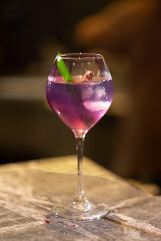 Violet Tonic   Maria's Steak Café Cocktails   Food For Thought